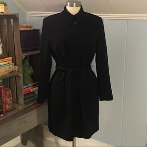 Gallery Black Mid-Length Trench Jacket Sz XS